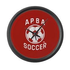 APBA Soccer Card Large Wall Clock