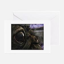 Kissable Black Pug Greeting Cards (Pk of 10)
