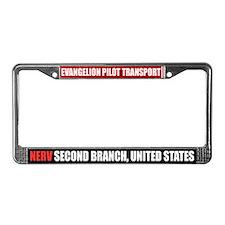 """Eva Pilot Transport""License Plate Frame"