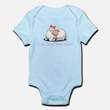 Jesus Little Lamb Girls Onesie