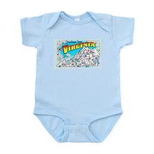 Virginia Map Greetings Infant Bodysuit