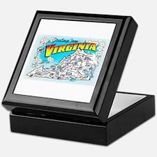 Virginia Map Greetings Keepsake Box