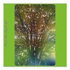 "Enchanted nature 6 Square Car Magnet 3"" x 3"""