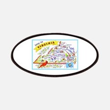 Virginia Map Greetings Patches