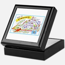Virginia Map Greetings Keepsake Box