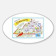 Virginia Map Greetings Decal