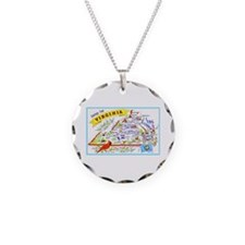 Virginia Map Greetings Necklace