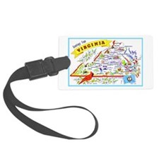 Virginia Map Greetings Luggage Tag