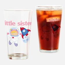 Astronaut Little Sister Drinking Glass
