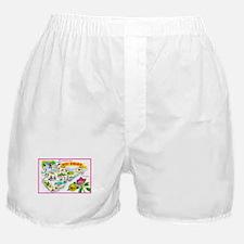 West Virginia Map Greetings Boxer Shorts