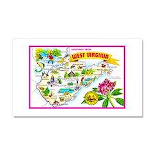 West Virginia Map Greetings Car Magnet 20 x 12
