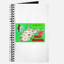 West Virginia Map Greetings Journal