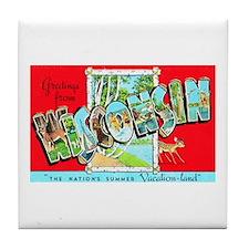 Wisconsin Greetings Tile Coaster