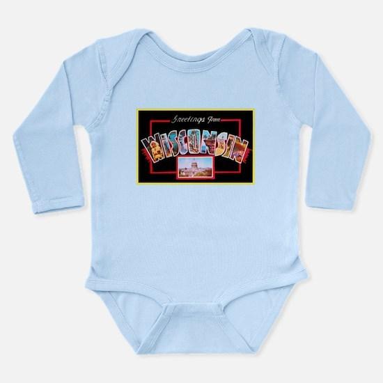 Wisconsin Greetings Long Sleeve Infant Bodysuit