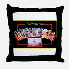 Wisconsin Greetings Throw Pillow