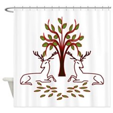 Resting Reindeer Shower Curtain