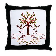 Resting Reindeer Throw Pillow