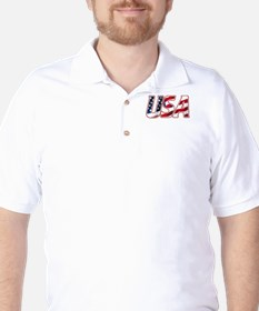 USA in Red White & Blue T-Shirt