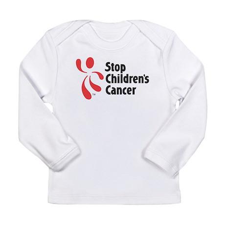 Stop Children's Cancer Logo Long Sleeve Infant T-S