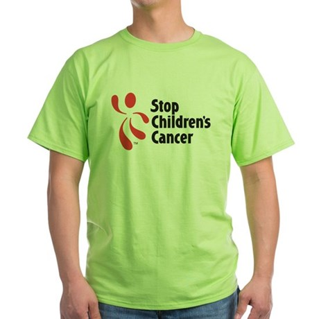 Stop Children's Cancer Logo Green T-Shirt