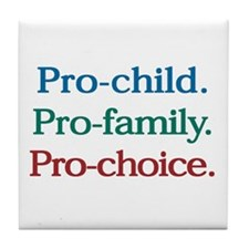 Pro-Choice Tile Coaster