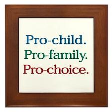 Pro-Choice Framed Tile