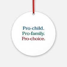 Pro-Choice Ornament (Round)