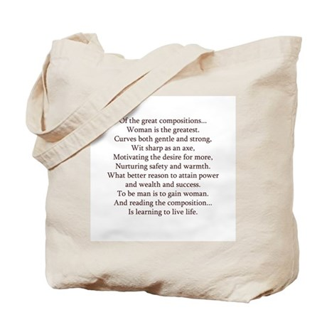 Inspiration and Beauty Tote Bag