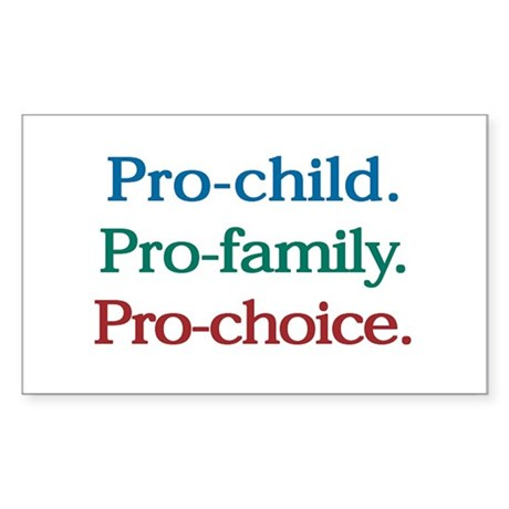 Pro-Choice Rectangle Sticker