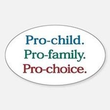Pro-Choice Oval Bumper Stickers