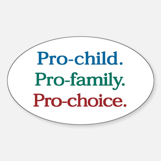 Pro-Choice Oval Decal