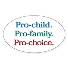 Pro-Choice Oval Stickers