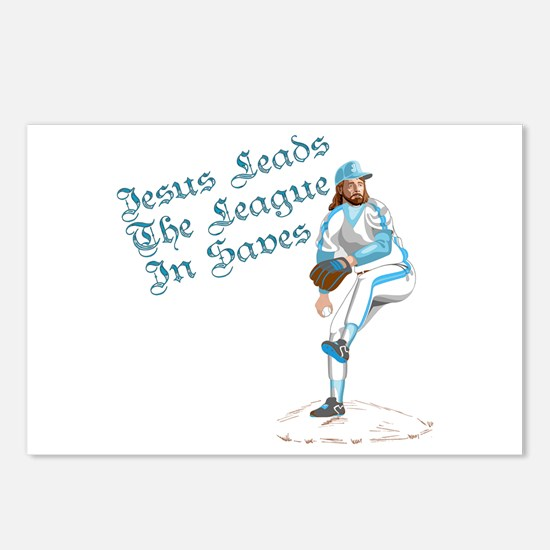 Jesus Leads The League In Sav Postcards (Package o