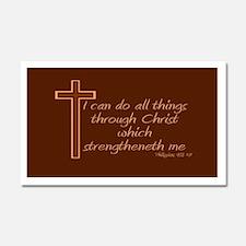 Philippians 4 13 Car Magnet 20 x 12