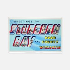 Sturgeon Bay Wisconsin Greetings Rectangle Magnet