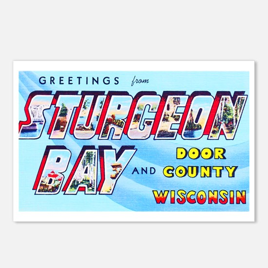 Sturgeon Bay Wisconsin Greetings Postcards (Packag