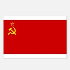 Russia - Soviet Union Flag -1923-1991 Postcards (P