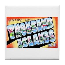Thousand Islands New York Tile Coaster