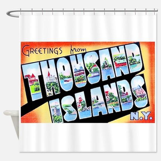 Thousand Islands New York Shower Curtain
