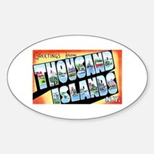 Thousand Islands New York Sticker (Oval)