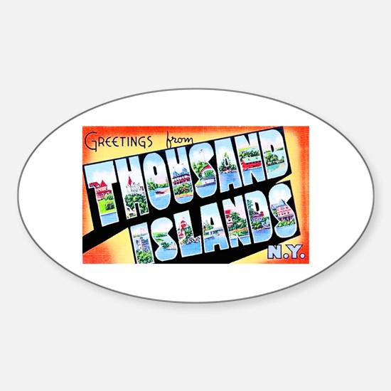 Thousand Islands New York Sticker (Oval)