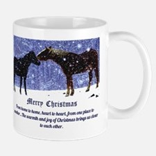 Merry Christmas Snow Horses Mug