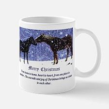 Merry Christmas Snow Horses Small Small Mug