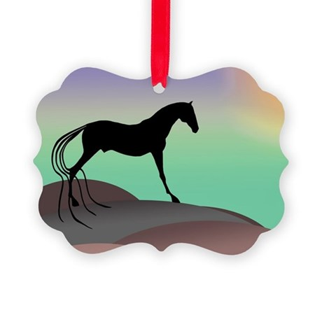 desert horse colors.png Picture Ornament