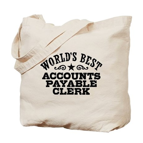 Check For Wedding Gift Payable To : Worlds Best Accounts Payable Clerk Tote Bag by dweebetees
