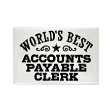 World's Best Accounts Payable Clerk Rectangle Magn
