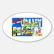 Valley Forge Pennsylvania Sticker (Oval)
