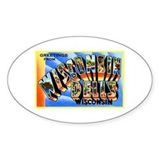 Wisconsin Dells Greetings Decal