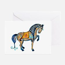 tang horse two transp.png Greeting Cards (Pk of 10