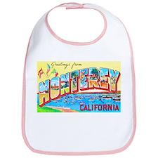 Monterey California Greetings Bib